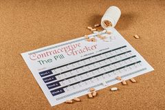 Antykoncepcyjny tropiciela prześcieradło fotografia royalty free