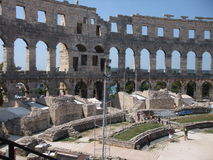 antykwarscy amphitheatre pula Obraz Royalty Free