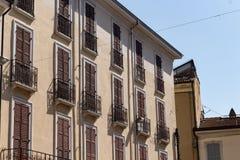 Antykwarscy budynki w bocznej ulicie -2 Zdjęcie Stock