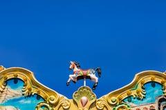 antykwarscy carousel konie namiotowi Zdjęcia Royalty Free