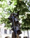 Antykwarscy cowbells dla zwierząt zdjęcie royalty free