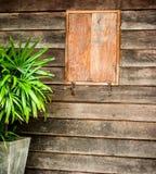 Antykwarscy drewniani okno Zdjęcia Royalty Free