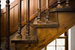Antykwarscy drewniani schodki Zdjęcie Stock