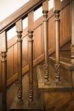 Antykwarscy drewniani schodki Obraz Royalty Free