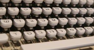 Antykwarscy hebrew maszyna do pisania klucze Zdjęcia Royalty Free