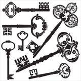 antykwarscy klucze ilustracja wektor