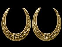 antykwarscy końscy szczęsliwi buty Fotografia Royalty Free