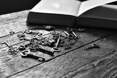 Antykwarscy kośca domu klucze Zdjęcie Stock