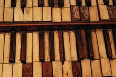 Antykwarscy kościelni organów klucze Zdjęcie Royalty Free