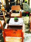 antykwarscy krzesło Obrazy Royalty Free