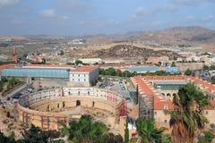 Antykwarska arena dla bullfight i Polytechnical uniwersyteta cartagena Spain Fotografia Royalty Free