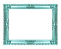 Antykwarska błękit rama odizolowywająca na białym tle, ścinek ścieżka Zdjęcie Royalty Free