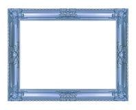 Antykwarska błękit rama odizolowywająca na białym tle, ścinek ścieżka Zdjęcie Stock