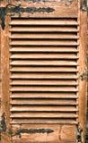Antykwarska drewniana żaluzja zdjęcia stock