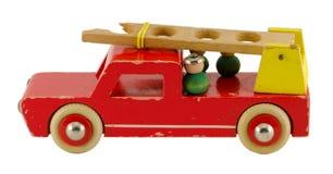 Antykwarska drewniana sikawki zabawka isoalted na bielu Fotografia Royalty Free