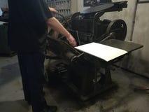 Antykwarska drukowa maszyna obraz royalty free