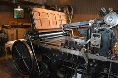 Antykwarska drukowa prasa zdjęcie stock