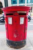 Antykwarska filar skrzynka pocztowa Royal Mail Zdjęcia Stock