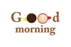 antykwarska kawa umowy gospodarczej kubek świeżego fasonował dzień dobry długopisy sceny starą maszynę do pisania Obraz Royalty Free