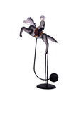 Antykwarska Kołysa koń równowagi zabawka obraz stock