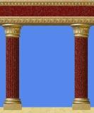 Antykwarska kolumna odizolowywająca zdjęcia royalty free