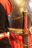 Antykwarska kordzik rękojeść królewiątko w średniowiecznym kasztelu Fotografia Royalty Free