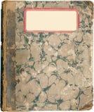 antykwarska książka wykładać marmurem notatki szkoła Zdjęcie Stock