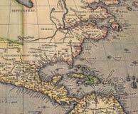 antykwarska mapę ameryki Zdjęcie Stock