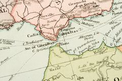 antykwarska mapa Fotografia Royalty Free