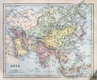 Antykwarska mapa Azja Obraz Royalty Free