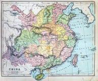 Antykwarska mapa Chiny Zdjęcia Stock