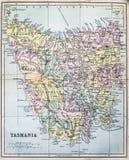Antykwarska mapa Tasmania Zdjęcia Royalty Free