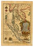 antykwarska mapa Thailand Obrazy Royalty Free