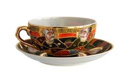 Antykwarska porcelany filiżanka, spodeczek i zdjęcia royalty free