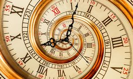 Antykwarska stara zegarowa abstrakcjonistyczna fractal spirala Zegarka zegarowego mechanizmu tekstury fractal wzoru niezwykły abs obraz royalty free