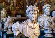 Antykwarska statua w Kapitolińskim muzeum w Rzym Zdjęcia Royalty Free