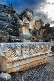 Antykwarska ulga na kamiennym amfiteatrze indyk Zdjęcia Stock