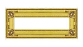 Antykwarska złota rama na białym tle Obraz Stock