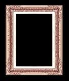 Antykwarska złota rama odizolowywająca na białym tle z clippin, Obraz Stock