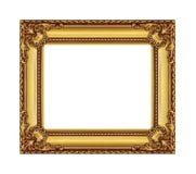 Antykwarska złoto rama na białym tle Zdjęcia Stock