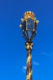 Antykwarska złocista lampa w Nancy Obrazy Stock