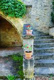 Antykwarski średniowieczny górska chata szczegół, Francja Zdjęcia Royalty Free