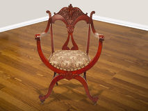 Antykwarski Amerykański Mahoniowy krzesło. Obraz Royalty Free