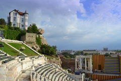 Antykwarski amfiteatr Plovdiv Bułgaria zdjęcia stock