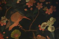Antykwarski azjatykci ptaka wzór Zdjęcia Royalty Free