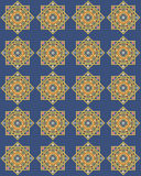 antykwarski błękitny złocisty bezszwowy Zdjęcia Stock