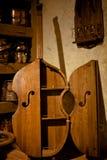 antykwarski basowy gabinetowy drewniany Obrazy Royalty Free