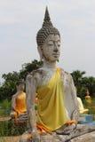 Antykwarski biały Buddha Zdjęcia Royalty Free