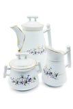 Antykwarski Biedermeierowski porcelana set Fotografia Royalty Free