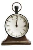 antykwarski brązowy zegarowy stół Obraz Royalty Free